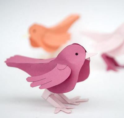 20 Fun Bird Crafts for Adults featured by top US craft blog, The Crafty Blog Stalker: 3D Paper Bird