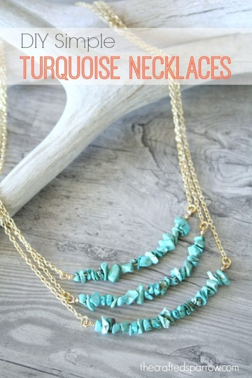 20 Unique Handmade Necklaces featured by top US craft blog, The Crafty Blog Stalker: Simple Turquoise Necklace