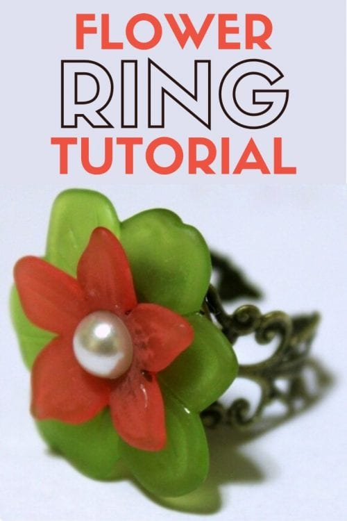 How to Make a Flower Ring, a tutorial featured by top US craft blog, The Crafty Blog Stalker.