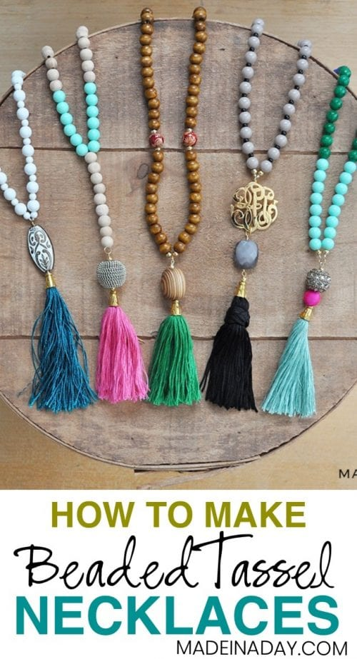 20 Unique Handmade Necklaces featured by top US craft blog, The Crafty Blog Stalker: beaded Tassel Necklaces