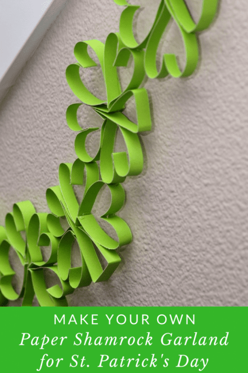 20 Lucky St. Patrick's Day Crafts for Kids featured by top US craft blog, The Crafty Blog Stalker: Paper Shamrock Garland