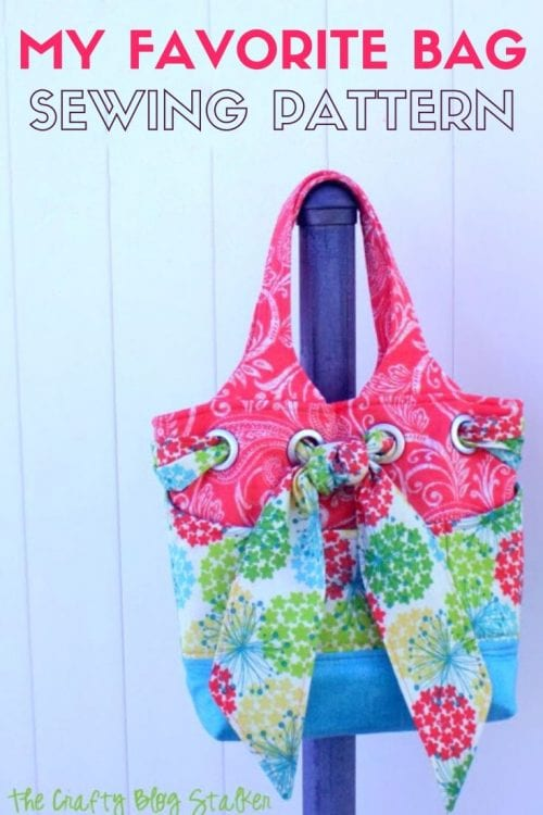 My Favorite Bag Pattern and a Sewing Day, featured by top US craft blog, The Crafty Blog Stalker.