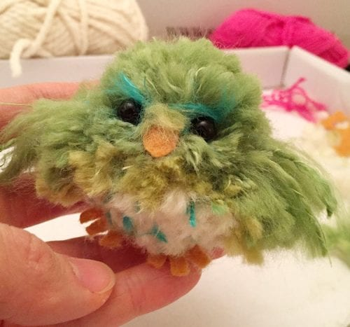 20 Fun Bird Crafts for Adults featured by top US craft blog, The Crafty Blog Stalker: Pom Pom Bird