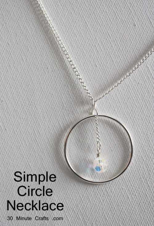 20 Unique Handmade Necklaces featured by top US craft blog, The Crafty Blog Stalker: Circle Pendant Necklace