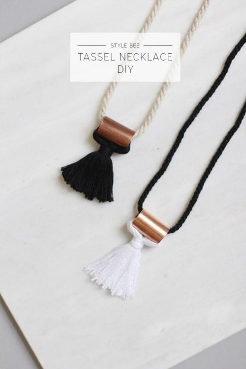 20 Unique Handmade Necklaces featured by top US craft blog, The Crafty Blog Stalker: Tassel Necklace