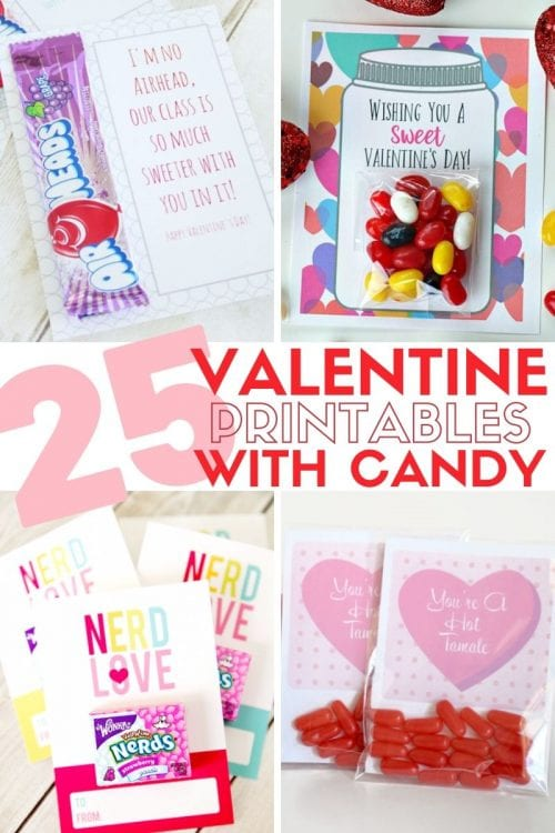 25+ Valentine Printables to be given with Candy featured by top US craft blog, The Crafty Blog Stalker.