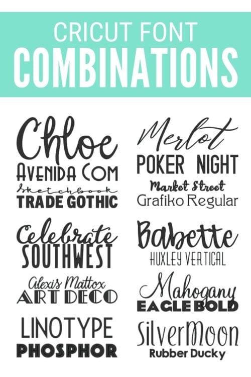 best cricut fonts 4