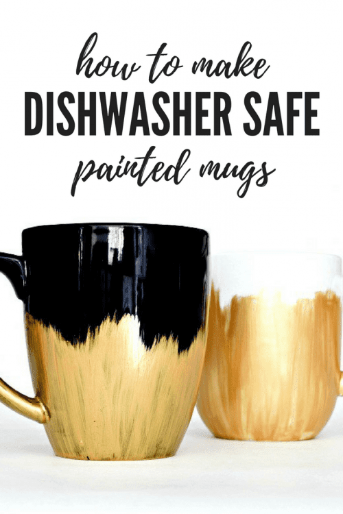 20 Fun DIY Coffee Mugs featured by top US craft blog, The Crafty Blog Stalker: Dishwasher Safe Painted Mugs
