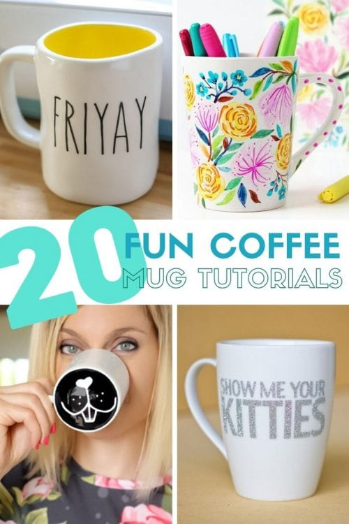 20 Fun DIY Coffee Mugs featured by top US craft blog, The Crafty Blog Stalker.