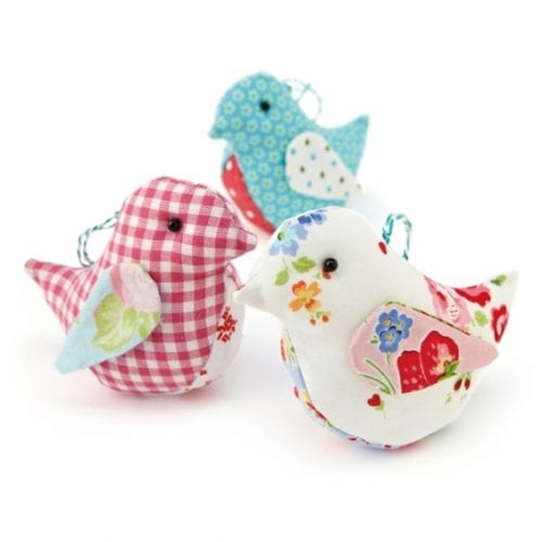 20 Fun Bird Crafts for Adults featured by top US craft blog, The Crafty Blog Stalker: Fabric Birds