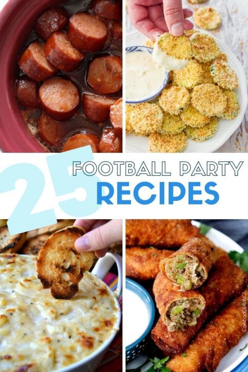 25 Football Party Recipes featured by top US craft blog, The Crafty Blog Stalker.