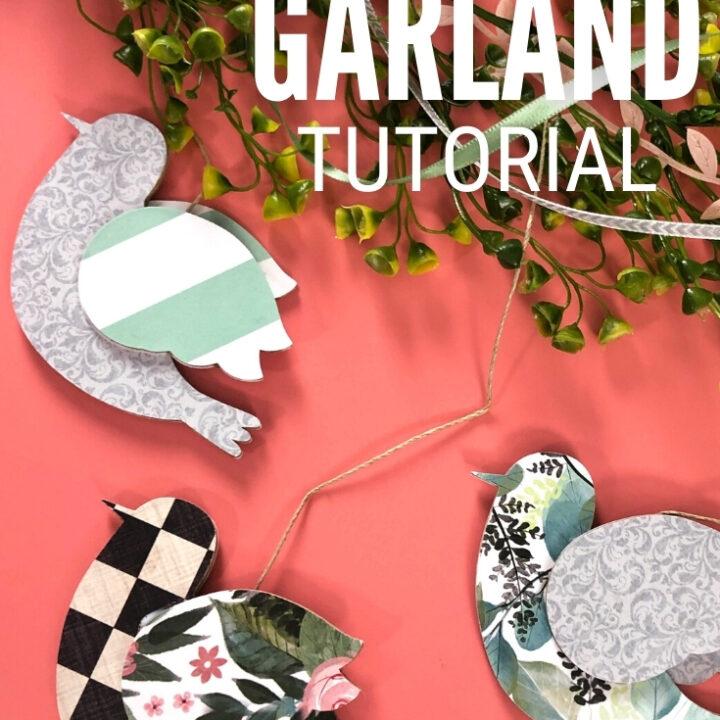hanging bird garland 37