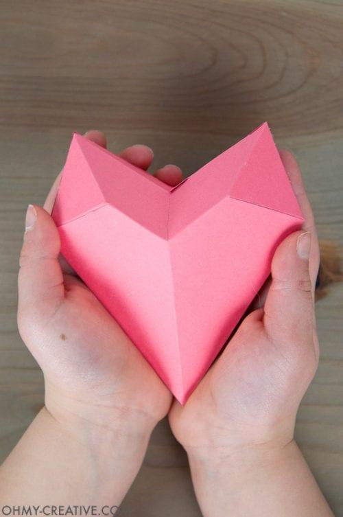 3D Papier Herz Kranz