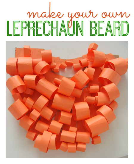 20 Lucky St. Patrick's Day Crafts for Kids featured by top US craft blog, The Crafty Blog Stalker: Leprechaun Beard