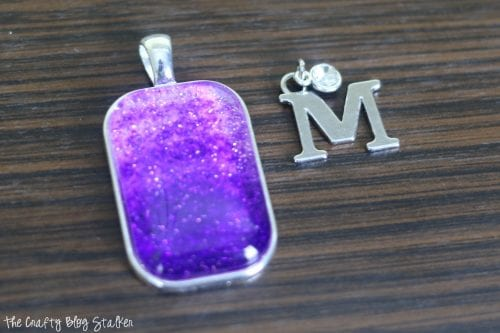 How to Make an Ombre Glitter Pendant Necklace, a tutorial featured by top US craft blog, The Crafty Blog Stalker.