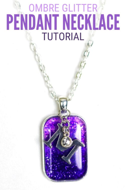 title image for How to Make an Ombre Glitter Pendant Necklace