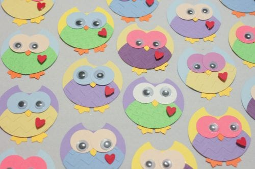How to Make Cute Owl Punch Art, a tutorial featured by top US craft blog, The Crafty Blog Stalker.