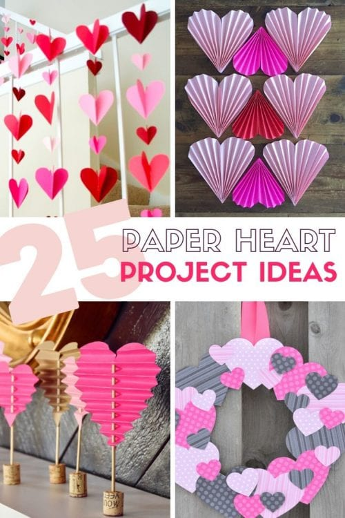 25 Easy Paper Heart Project Ideas, featured by top US craft blog, The Crafty Blog Stalker.