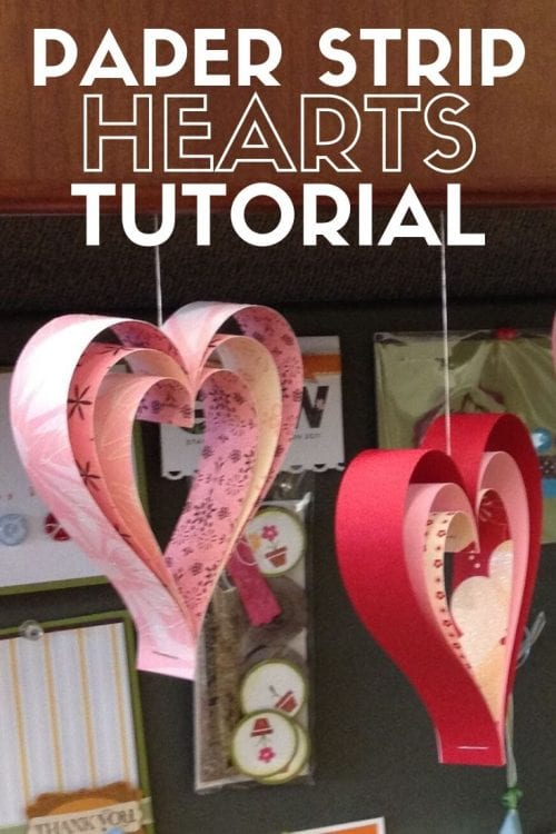 25 Easy Dollar Store Craft Ideas for Adults featured by top US craft blog, The Crafty Blog Stalker: paper strip hearts