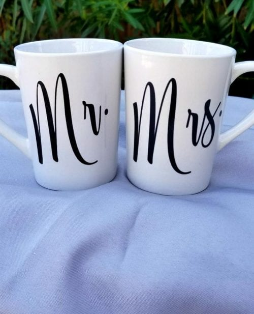 20 Fun DIY Coffee Mugs featured by top US craft blog, The Crafty Blog Stalker: His and Hers Mugs