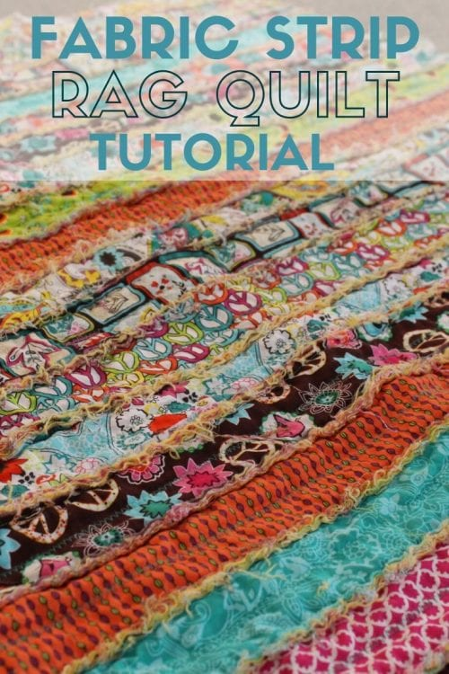 How to Make a Fabric Strip Rag Quilt
