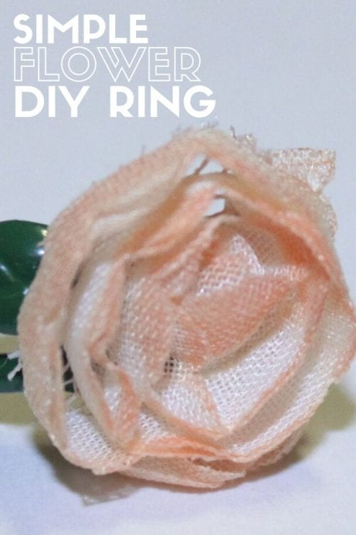 How to Make a Simple Flower Ring, a tutorial featured by top US craft blog, The Crafty Blog Stalker.