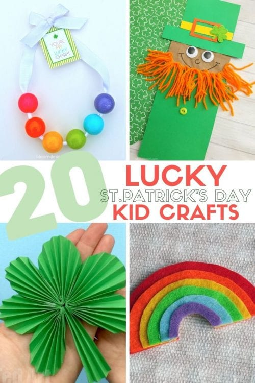 20 Lucky St. Patrick's Day Crafts for Kids featured by top US craft blog, The Crafty Blog Stalker.