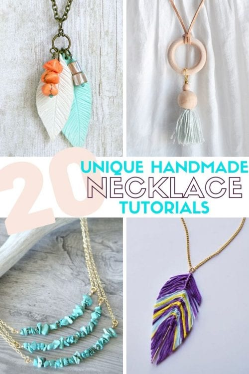 20 Unique Handmade Necklaces featured by top US craft blog, The Crafty Blog Stalker.