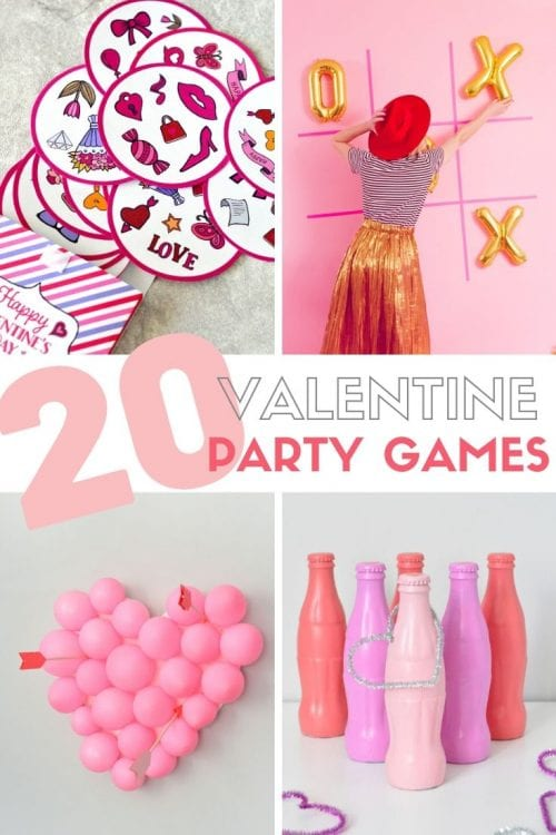 20 Valentine Party Games for Kids and Adults featured by top US craft blog, The Crafty Blog Stalker: large heart wall art.