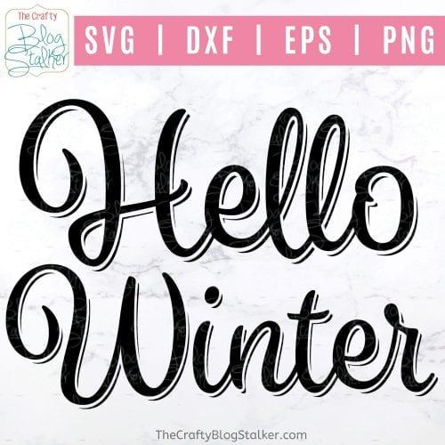 hello winter svg file