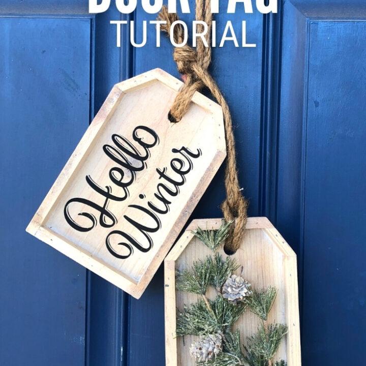 wooden door tag 26