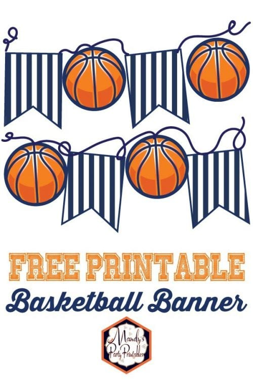 20 March Madness Party Ideas: Food, Games, and Decorations, featured by top US craft blog, The Crafty Blog Stalker: Printable Basketball Banner