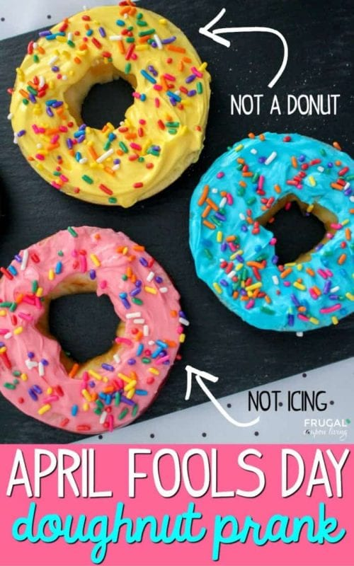 17 Crafty DIY April Fools Day Pranks featured by top US craft blog, The Crafty Blog Stalker: Healthy April Fools Doughnuts