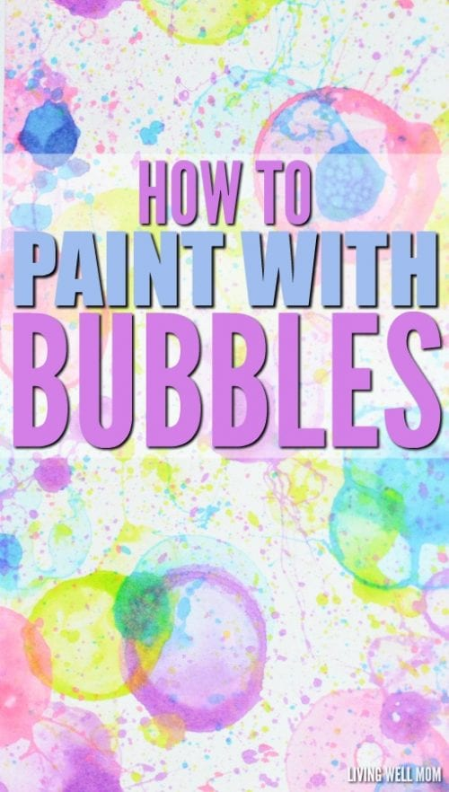 30 Fun Spring Break Crafts you can Make with Children featured by top US craft blog, The Crafty Blog Stalker: Paint with Bubbles