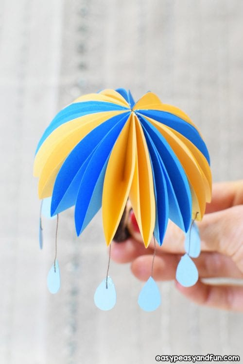 30 Fun Spring Break Crafts you can Make with Children featured by top US craft blog, The Crafty Blog Stalker: How to Make Paper Umbrellas