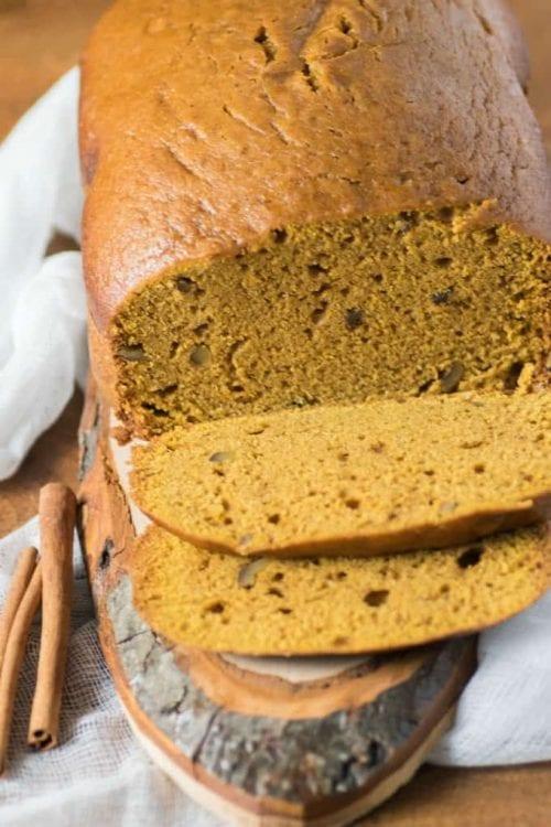 bread machine pumpkin spice loaf