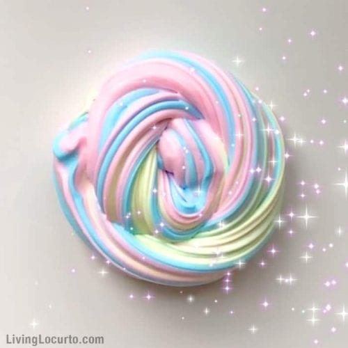 30 Fun Spring Break Crafts you can Make with Children featured by top US craft blog, The Crafty Blog Stalker: Rainbow UnicornFluffy Slime