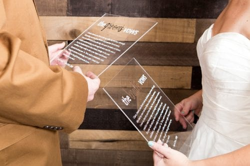 20 Personalized DIY Wedding Gifts for Newlyweds you Can Make with a Cricut, featured by top US craft blog, The Crafty Blog Stalker: Vow Boards