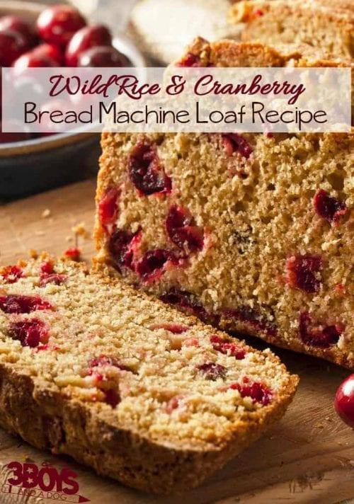 30 Delicious Bread Maker Recipes, recipes featured by top US craft blog, The Crafty Blog Stalker: wild rice and cranberry bread machine loaf