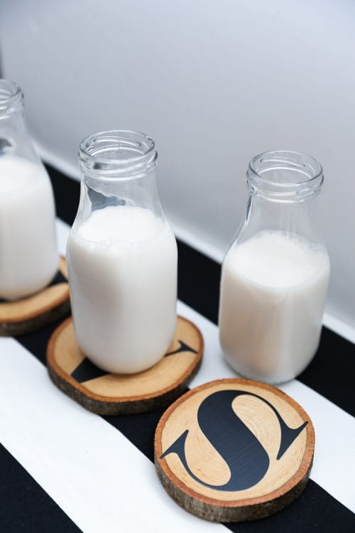 20 Personalized DIY Wedding Gifts for Newlyweds you Can Make with a Cricut, featured by top US craft blog, The Crafty Blog Stalker: Monogram Wood Slice Coasters
