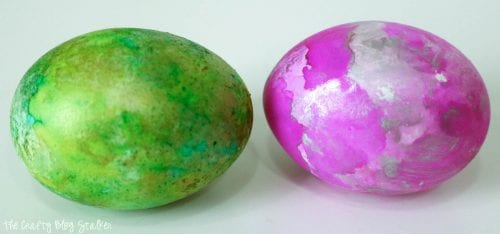 How to Make DIY Alcohol Ink Easter Eggs, a tutorial featured by top US craft blog, The Crafty Blog Stalker.