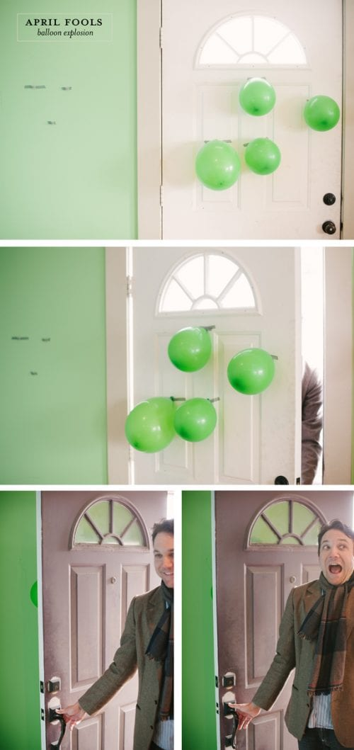 17 Crafty DIY April Fools Day Pranks featured by top US craft blog, The Crafty Blog Stalker: Ballon Explosion