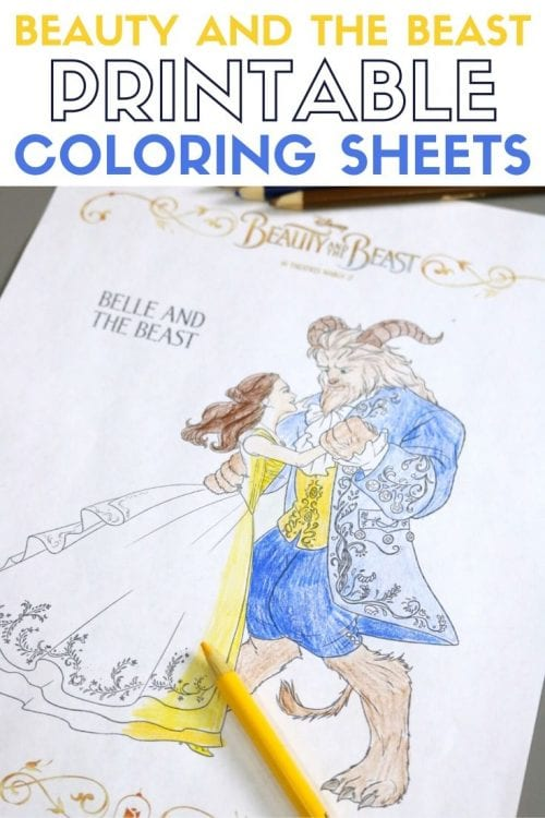 Beauty and The Beast Printable Coloring Sheets, featured by top US craft blog, The Crafty Blog Stalker.