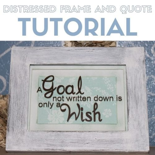 25 Easy Dollar Store Craft Ideas for Adults featured by top US craft blog, The Crafty Blog Stalker: distressed frame and quote
