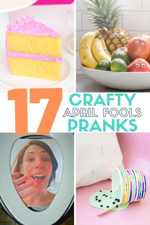 17 Crafty DIY April Fools Day Pranks featured by top US craft blog, The Crafty Blog Stalker.