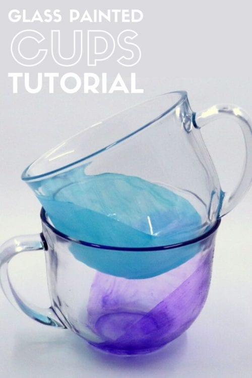 How to Paint Glass Coffee Mugs Permanently, a tutorial featured by top US craft blog, The Crafty Blog Stalker.