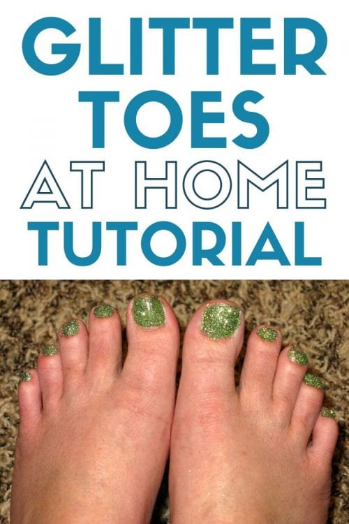 How to Paint Glitter Toes at Home, a beauty tutorial featured by top US craft blog, The Crafty Blog Stalker.