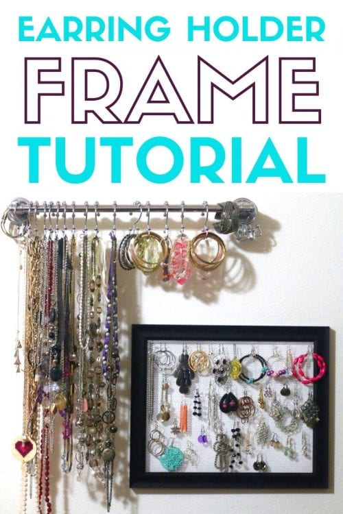 21 Easy Crafts for Adults to Make with 5 Supplies or Less, featured by top US craft blog, The Crafty Blog Stalker: earring holder frame