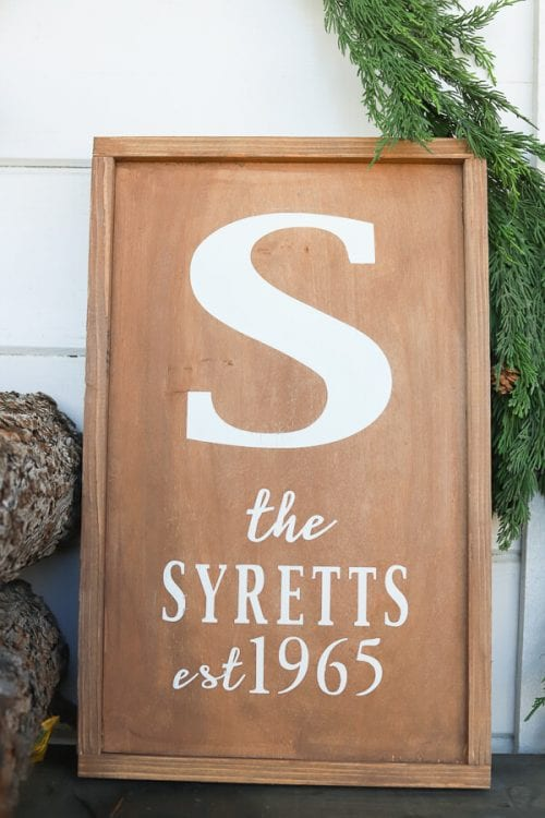 20 Personalized DIY Wedding Gifts for Newlyweds you Can Make with a Cricut, featured by top US craft blog, The Crafty Blog Stalker: Family Name Sign