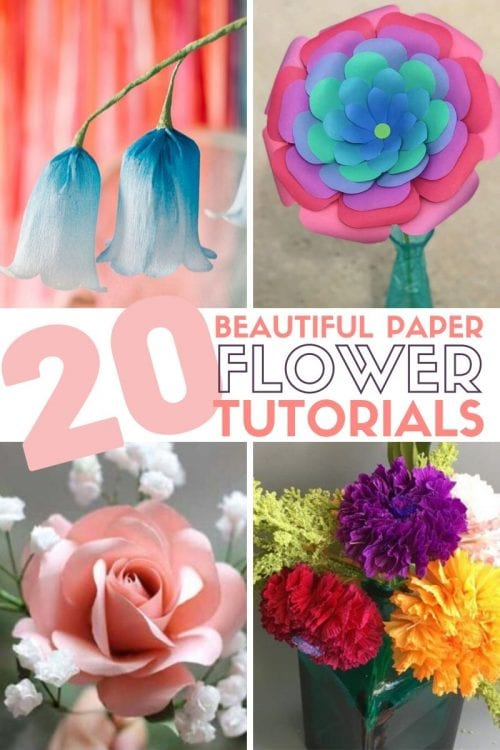 20 Beautiful Paper Flower Tutorials featured by top US craft blog, The Crafty Blog Stalker.